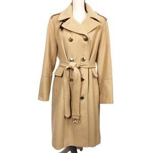 Calvin Klein Long Tan Plus Size Heavy Trench Coat